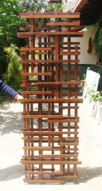 biombo treliça - 3 peças